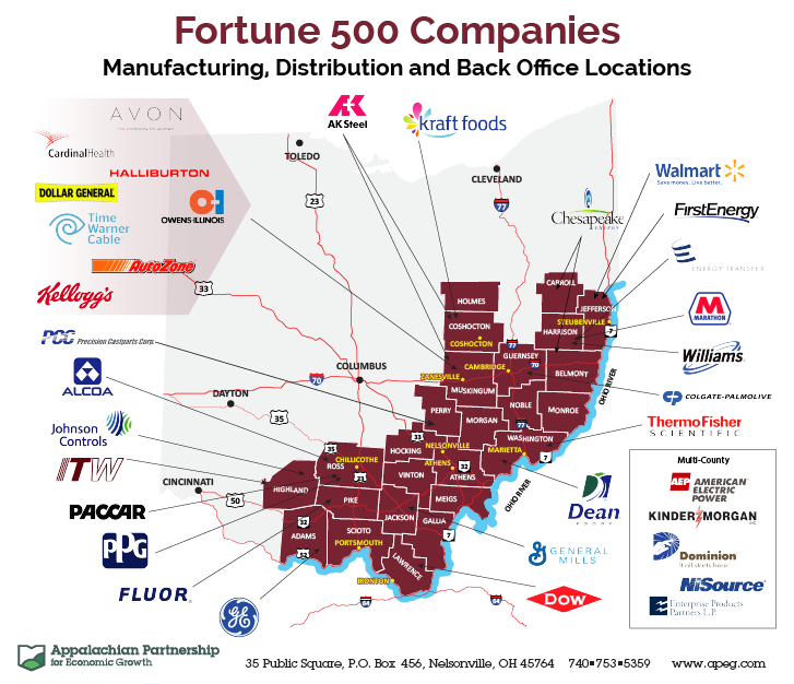 Fortune 500 Companies Map
